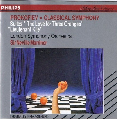 "The Love Of Three Oranges / Lieutenant Kijé / ""Classical"" Symphony - Prokofiev, London Symphony Orchestra, Sir Neville Marriner"