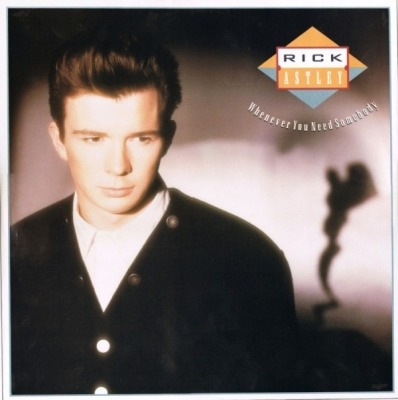 "Whenever You Need Somebody - Rick Astley (Winyl, 12"", 45 RPM, Singiel, Stereo, ℗ © 1987) - przód główny"