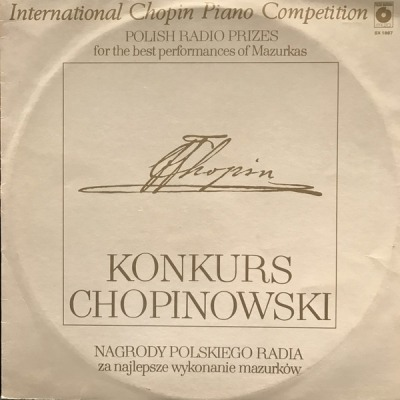 Konkurs Chopinowski = International Chopin Piano Competition - Chopin (Album, Winyl, LP) - przód główny