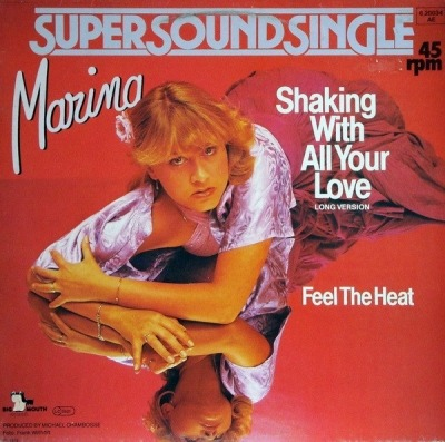 "Shaking With All Your Love - Marina (Winyl, 12"", Maxi-Singiel, 45 RPM, ℗ © 1979) - przód główny"