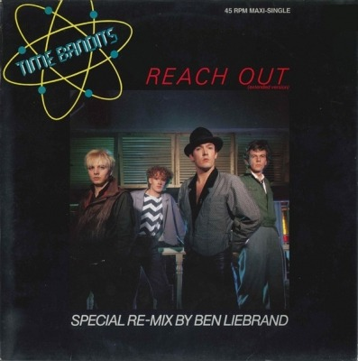 "Reach Out (Extended Version) - Time Bandits (Winyl, 12"", 45 RPM, Maxi-Singiel, ℗ © 1984) - przód główny"