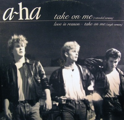"Take On Me (Extended Version) - a-ha (Winyl, 12"", 45 RPM, Maxi-Singiel, ℗ © 1985) - przód główny"