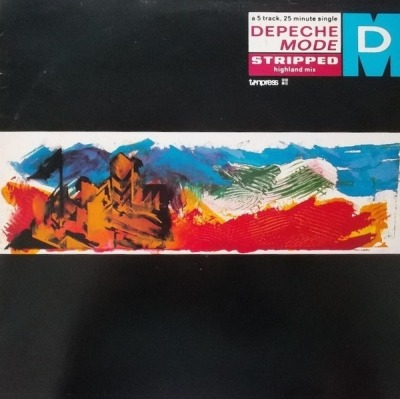 "Stripped (Highland Mix) - Depeche Mode (Winyl, 12"", 45 RPM, Maxi-Singiel, ℗ © 1986) - przód główny"