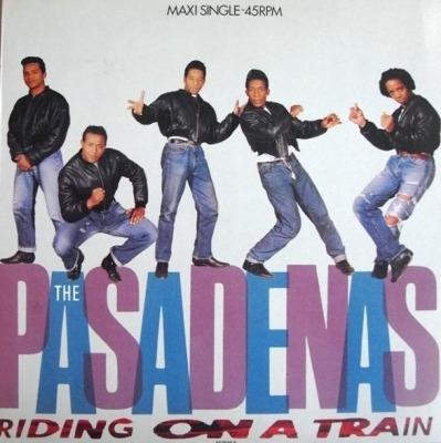 "Riding on a Train - The Pasadenas (Winyl, 12"", 45 RPM, Maxi-Singiel, ℗ © 1988) - przód główny"