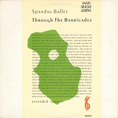 Through The Barricades (Extended Version) - Spandau Ballet